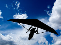 Hang Gliding Silhouette Royalty Free Stock Image