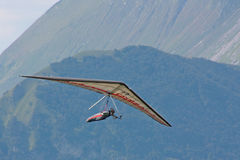 Hang gliding in Slovenia Stock Photo