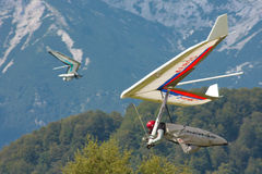 Hang gliding in Slovenia Royalty Free Stock Photos