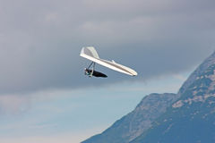 Hang gliding in Swiss Alps Stock Photos