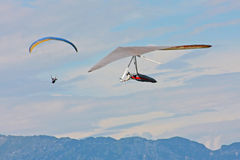 Hang gliding in Swiss Alps Royalty Free Stock Images