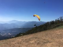 Hang Gliding Take Off Royalty Free Stock Image