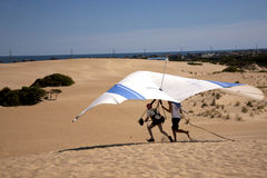 Hang Gliding Take Offs Royalty Free Stock Photography