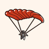 Hang gliding theme elements vector,eps Stock Photo