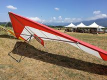 Hang gliding wing stock photo