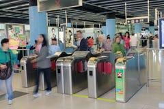 Hang hau mtr station in hong kong Royalty Free Stock Photography