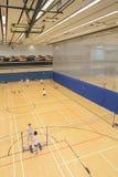 Hang Hau Sports Centre Badminton hall in Hong Kong Royalty Free Stock Images