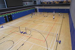Hang Hau Sports Centre badminton hall Royalty Free Stock Images