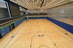 Hang Hau Sports Centre badminton hall Stock Image
