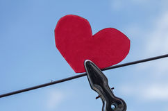 Hang heart on sky Stock Photo