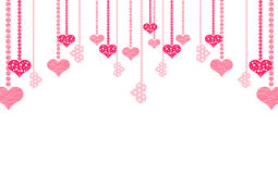 Hang hearts Stock Images