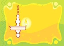 Hang lamp in radiant yellow Stock Photography