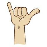 Hang Loose Hand Sign Fotografie Stock