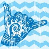 Hang Loose Hand Signal. Surf hand sign Royalty Free Stock Photos