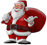 Hang loose santa claus Royalty Free Stock Photo