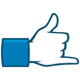 Hang Loose Social Media Icon Immagini Stock Libere da Diritti