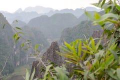 Hang Mua Temple Ninh Binh-Provincie, Ha Noi Vietnam Dec 2018 stock foto