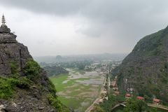 Hang Mua Temple Ninh Binh-Provinz, ha Noi Vietnam Dec 2018 stockfoto