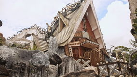 Hang Nga Guesthouse Crazy House, design Interior and Exterior landmark architecture Odd House. stock video