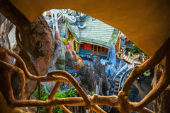 Hang Nga guesthouse, popularly known as the Crazy House Royalty Free Stock Photo