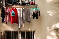Hang omhoog de kleren Stock Fotografie