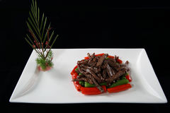 Hang pepper beef fried Royalty Free Stock Image