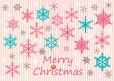 Hang Sneeuwvlokken Card_eps Stock Fotografie