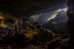 The Hang Sung cave at Halong Bay, Vietnam. royalty free stock photography