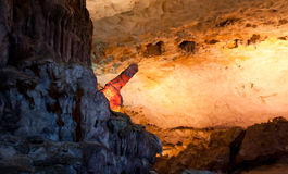 Hang Sung Sot Cave, Halong Bay Stock Image