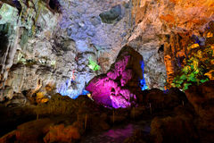 IN HANG SUNG SOT CAVE, HALONG BAY. VIETNAM royalty free stock image