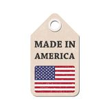 Hang tag made in America with flag. Vector illustration Stock Images