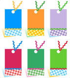 Hang tags design elements stock illustration