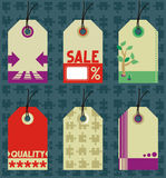 Hang tags design elements Royalty Free Stock Photos