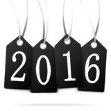 Hang tags with year 2016 Stock Photos
