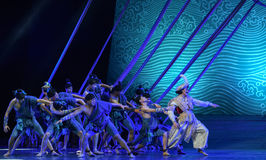 """Hang by a thread-Dance drama """"The Dream of Maritime Silk Road"""". Dance drama """"The Dream of Maritime Silk Road"""" centers on the plot of two generations of a Stock Photos"""