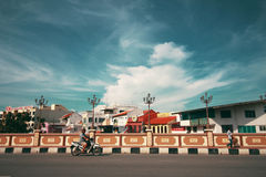 HANG TUAH BRIDGE, THE CITY OF MALACCA Royalty Free Stock Images