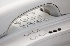 Hang-up , close-up of telephone Royalty Free Stock Photography
