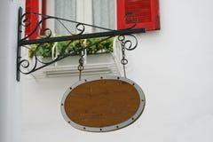 Hang wood sign Stock Photo