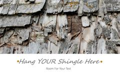 Hang Your Shingle Here Royalty Free Stock Images