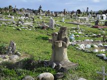 Cementerio Rapa Nui, Easter Island stock image