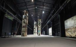 Hangaar Bicocca in Milaan Stock Foto