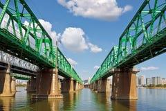 Hangang järnvägbro Royaltyfri Foto