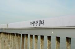 Hangang rzeka w Seul w lecie w Korea Zdjęcia Stock