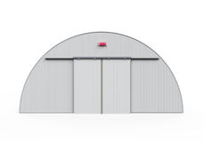 Hangar Building Isolated Royalty Free Stock Photo
