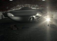 Hangar d'UFO de Roswell Photos libres de droits