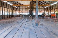 Hangar de cisaillement historique des jours allés par image libre de droits