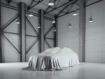 Hangar de grenier d'usine avec le studio de photo rendu 3d Images libres de droits