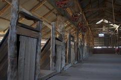 Hangar de laine Photographie stock