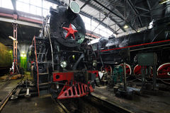 Hangar de Locomorive Photo libre de droits