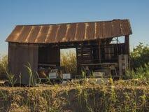 Hangar de stockage Photographie stock libre de droits